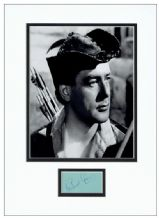 Richard Greene Autograph Display - Robin Hood